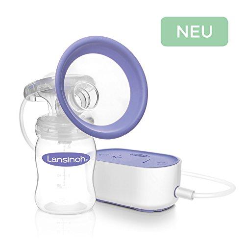 Lansinoh 54092 Elektrische Milchpumpe Kompakt inkl. NaturalWave Sauger Gr. S