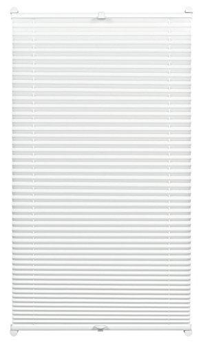 GARDINIA Plissee mit Thermo-Rückseite zum Klemmen, Höchste Lichtreflektion, Energiesparend, Alle Montage-Teile inklusive, EASYFIX Thermo-Plissee verspannt mit zwei Bedienschienen, Weiß, 80 x 130 cm (BxH)