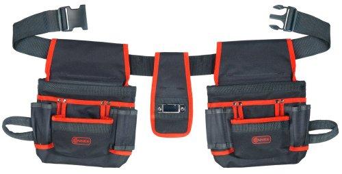 Connex COX952056 Werkzeuggürtel mit 2 Taschen a 8 Fächer
