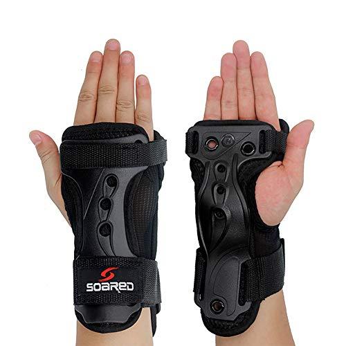 GES Handpads Handgelenkschützer Schutzausrüstung Skating Handschuhe Extended Wrist Palms Schutz Rollschuhlaufen Harte Stulpen für Snowboard Skating Skateboard Roller Skating Roller (XL)