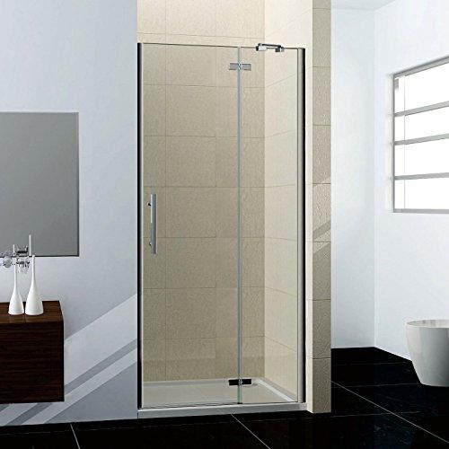 76x195cm Duschabtrennung Duschtür Nischentür Dusche Drehtür NANO Duschwand
