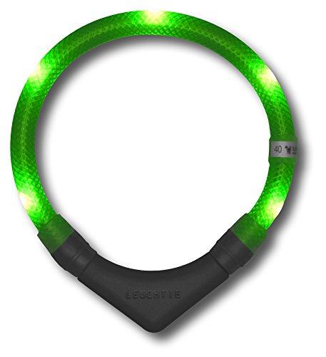 LED Leuchthalsband LEUCHTIE Plus neongrün Größe 50 LED Halsband