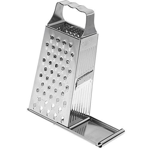 Westmark Vierkantreibe mit Schiebeverschluss, 4 Schneid-/Reibeflächen, Höhe: 26,4 cm, Rostfreier Edelstahl, Quattro, Silber, 11382270