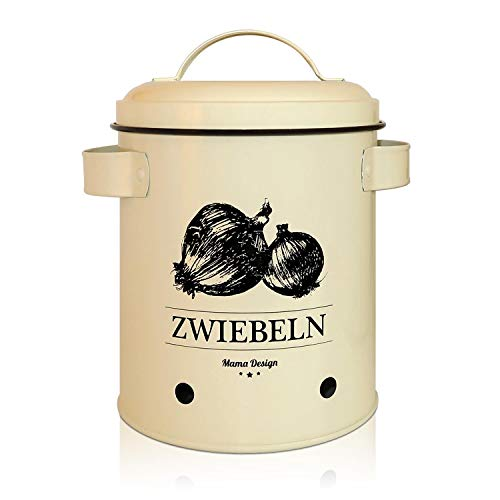 Mama Design Zwiebeltopf - Vintage Vorratdose für Zwiebeln