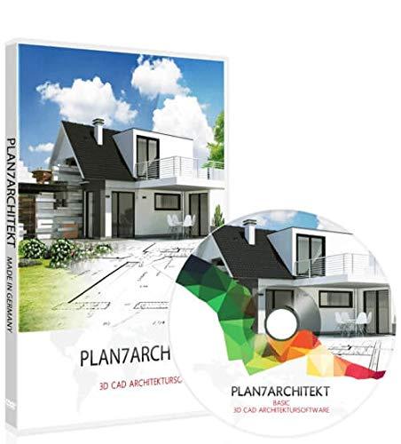 Plan7Architekt Basic - 2D/3D CAD Hausplaner Software & Architektur Programm für die Grundrisserstellung, einsetzbar als Raumplaner Einrichtungsplaner & zur 3D Visualisierung