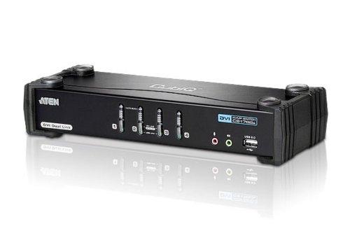 Aten CubiQ CS1784A 4-fach KVM Umschalter (DVI, USB 2.0, 2.1 Audio)