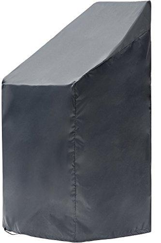 Chefarone Gartenstuhl Abdeckung - wasserabweisende Schutzhülle für Stapelstühle - 250D Polyester - winterfest durch Zugkordel - inkl. Aufbewahrungstasche