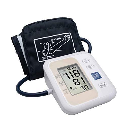 XUEYAYI Oberarm-Blutdruckmessgerät mit Sprachablesung , 2-Modus-Modus Automatische Puls-Herzfrequenzmonitore mit LCD-Display