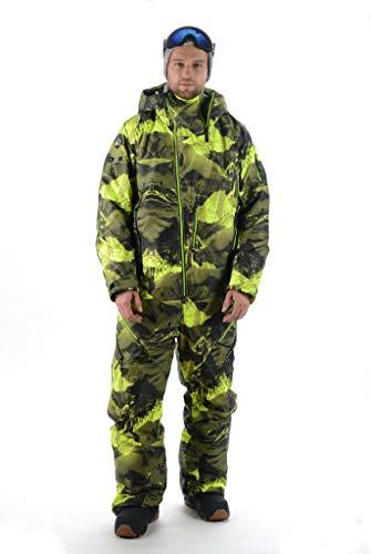 Stayer Snowboard-Jumpsuit Unisex Herren Damen Freeride Skianzug Schneeanzug Winteranzug Winter-Overall Wasserdicht Camouflage Grün (S)