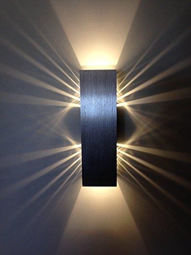 SpiceLED-Wandleuchte 'ShineLED-6' 2x3W warmweiß dimmbar Wandlampe Leuchte LED Effekt
