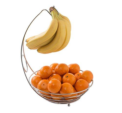 Obstkorb mit Bananehaken 38 x 28 x 29 cm