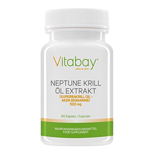 Vitabay Neptune Krill Öl 500 mg - 60 Softgels - Reich an Omega-3 Fettsäuren