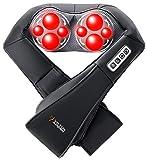 Viktor Jurgen Nackenmassagegerät-Shiatsu Massagegeräte mit 3D Rotierende Shiatsu Kneten Massagegeräte+Infrarot-Heizung+Verstellbare Intensität,für massage Nacken,Schulter,Rücken,Bein