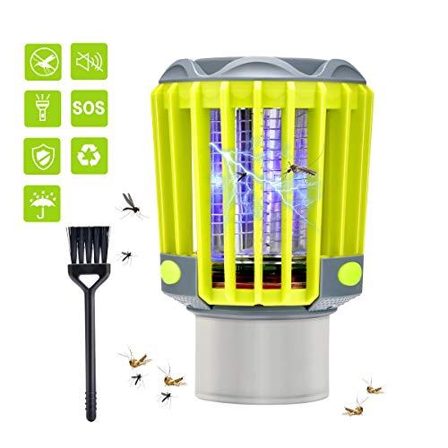 BASEIN UV Insektenvernichter, elektrisch Mückenfalle, Bug Zapper, 3 in 1 IP67 wasserdicht Moskito Lampe mit Camping Lampe und Taschenlampe gegen Mücken, Fliegen, Moskitos für Innen und Außeneinsatz