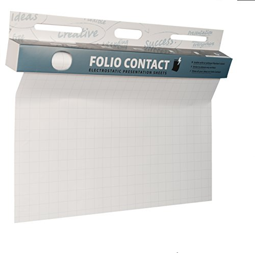 Folio Contact Flipchart: die patentierte elektrostatische Flipchartfolie - haftet ohne Hilfsmittel auf nahezu allen Oberflächen