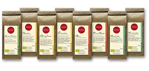Tee Geschenkset Probierset Biotee Quertee Nr. 2 - 8 x 25g Bio Tee - Tee Probierset - Tee Geschenk