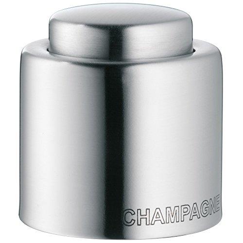 WMF Clever&More Sektverschluss 'Champagne', Flaschenverschluss, Edelstahl Cromargan mattiert, H 4,7cm, Ø 4 cm