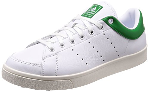 adidas Herren Adicross Classic- Leather Golfschuhe, Weiß (White/Green F33781), 44 2/3 EU