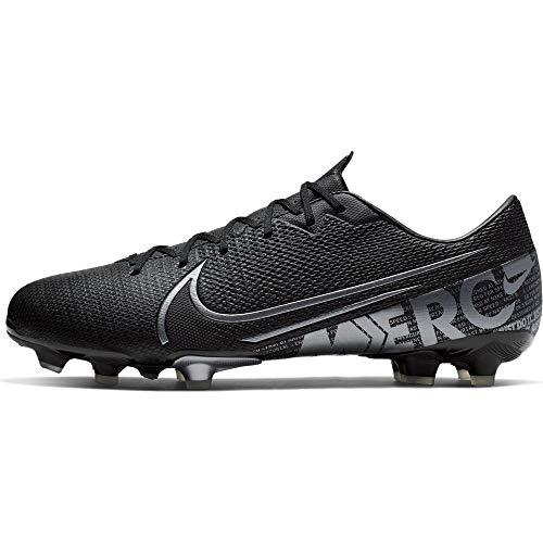 Nike Unisex-Erwachsene Vapor 13 Academy FM/GM Fußballschuhe, Mehrfarbig (Black/MTLC Cool Grey/Cool Grey 1), 43 EU