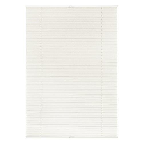 Lichtblick Plissee Klemmfix, 70 cm x 210 cm (B x L) in Weiß, ohne Bohren, Sicht- und Sonnenschutz, lichtdurchlässig & blickdicht