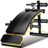 Sit-ups Hantelbank, Fitness, Maschine, Bauchbank, Herren, zu Hause, Trainingsbank, Damen, Fitness-Ausrüstung für den Innen- und Außenbereich, Metall, gelb, 140cm*50cm