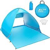 Active Era Pop-up Strandzelt – UV-Schutz Schutzfaktor 50+ Sonnenschutz – Tragbar Einschließlich Tragetasche und Zeltpflöcke, Outdoor Beach Tent Portable Strandmuschel Wurfzelt