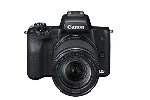 Canon EOS M50 spiegellose Systemkamera (24,1 MP, dreh-und schwenkbares 7,5cm (3 Zoll) Touchscreen-LCD, Digic 8, 4K Video, OLED EVF,WLAN, bluetooth) + EF-M 18-150mm IS STM Objektiv schwarz