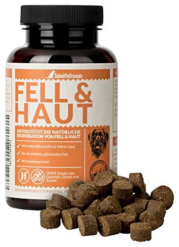 Schnüffelfreunde Fell & Haut I Nahrungsergänzungsmittel für Hunde zur Unterstützung des Fells und der Haut (150g - ca. 180 Stück)