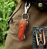 RunFa Profi Faltbar Zwille steinschleuder ab 18 Edelstahl mit Holzgriff Slingshot Schleuder Jagd Katapult im Freien leistungsfähiger