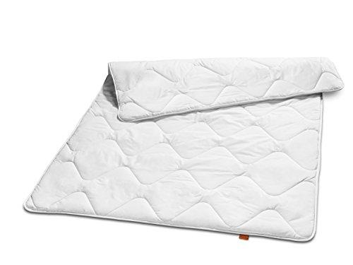 sleepling 19000000039 Basic 140 Winter Decke Mikrofaser duo warm 135 x 200 cm, weiß