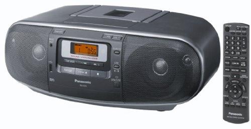 Panasonic RX-D55AEG-K Stereo-Radiorecorder (Tuner, CD-Player, MP3 Wiedergabe, Kassettendeck) Grau