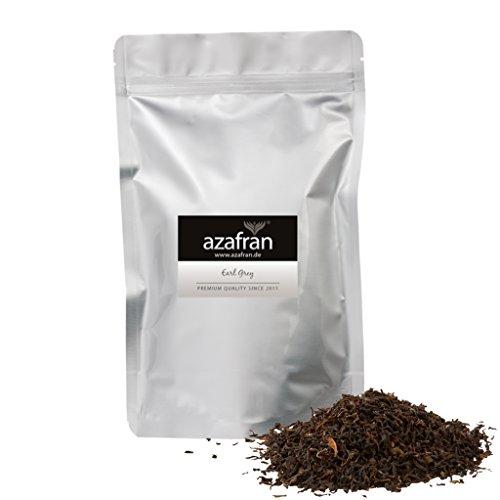 BIO Earl Grey Schwarzer Tee - Darjeeling Schwarztee mit Bergamotte Öl lose (250g) - ca.125 Tassen von Azafran