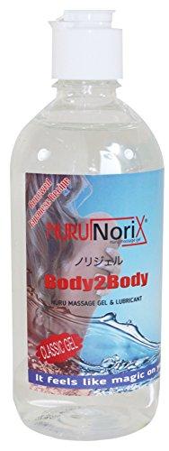 Nuru Gel, Massage Gel, Super glatt, Geruchlos, Geschmacklos, Perfekt für Nass Massagen und erotische Ganzkörpermassage, Deluxe Gleitgel (Medium - 450 ML)
