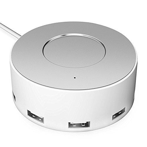 Jelly Comb USB Ladegerät 6-Port Ladestation mit iSmart Technologie für iPhone iPad Tablet Samsung, Silber und weiß