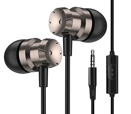 In-Ear Kopfhörer Noise Cancelling Earphone Bass HiFi Stereo In Ears Ohrhörer mit Mikrofon 3,5 mm Stecker Stereo Sound für Phone, Pad, Samsung, Huawei, Android, Smartphones