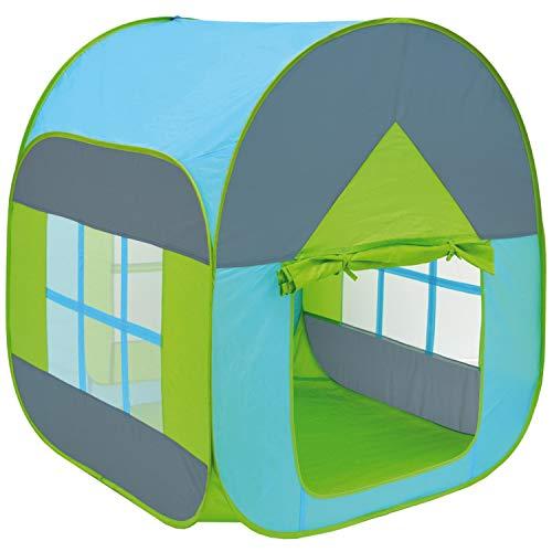 LittleTom Bällebad Spielzelt 90x90x110cm Popup Baby Spielhaus Kinder-Zelt Blau