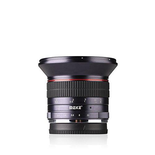 Meike MK 12mm F/2.8 Ultra-Weitwinkelobjektiv Weitwinkel-Manueller objektiv Fokus für Micro 4/3 (Olympus und Panasonic Lumix)