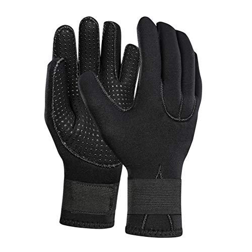 Gyratedream 3mm Tauchhandschuhe Spearfishing Unterwasserfischen Anti-Rutsch-Handschuhe Einstellbare Jagd Schwimmen Warmhalten Handschuhe Tauchzubehör