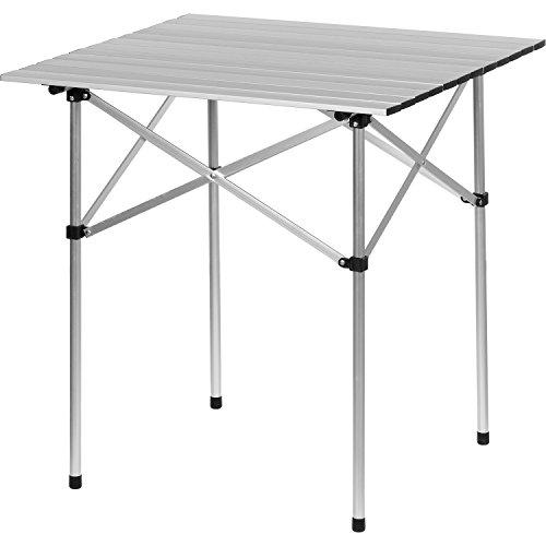 Aluminium Campingtisch klappbar, Rolltisch 70x70x70 cm, Alu Klapptisch inkl. Tragetasche