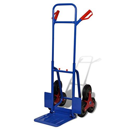 Anself 6-Räder Schubkarren Blau-Rot Sack Lkw Baukarre mit einer 200 kg Kapazität