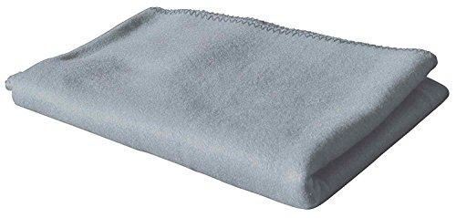 Polar-Fleecedecke in vielen Farben 130x160 cm pflegeleicht für Innen oder Außen (grau)