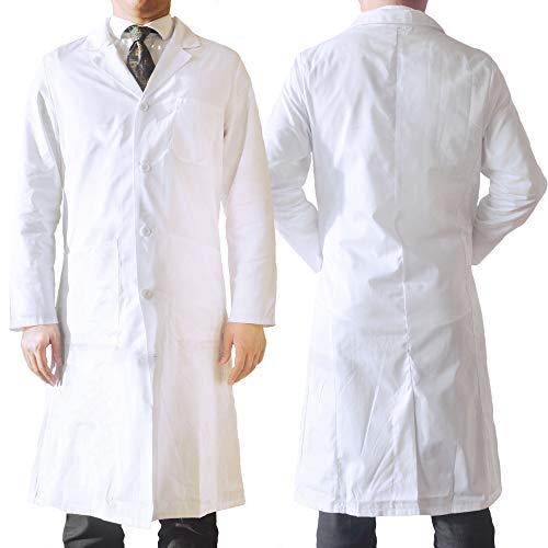 AndroChem Laborkittel - (weiß) - als Berufsbekleidung oder hochwertiges Kostüm - für Herren und Damen geeignet