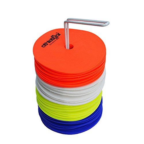 Floormarker Markierungsscheiben 48 Stück im Set verschieden Farben von athletikor