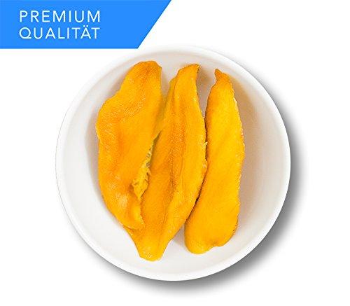 Mango getrocknet 1kg ohne Zucker und ungesüßt   ohne Zusätze   ohne künstliche Aromen   ohne Feststoffe   ohne Konservierungsstoffe   ohne Füllstoffe   Vegan   Rohkostqualität   Trockenfrüchte ohne Zucker - 1kg
