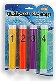 Water Games Tauchstab Tauchring 4-teiliges Set (1 Stück je Farbe) Wasserspielzeug