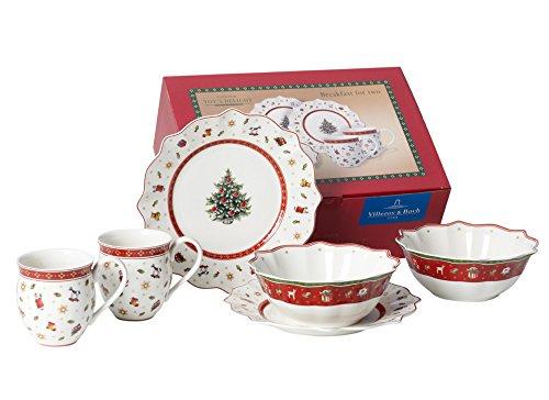 Villeroy & Boch 1485857282 Frühstücks-Set, Porzellan, weiß, 35.4 x 13.7 x 25.1 cm, 6 Einheiten