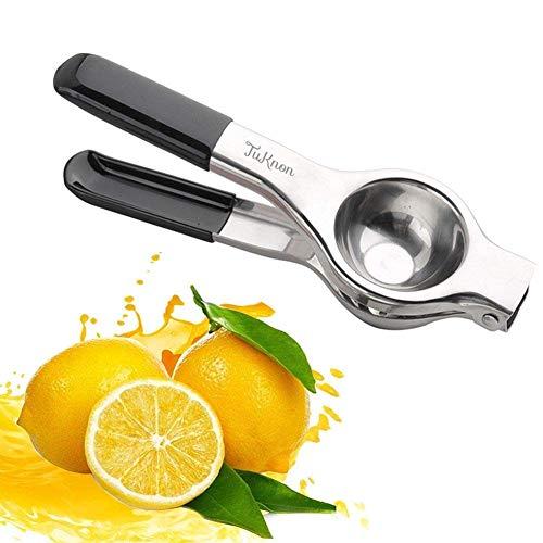 Zitronenpresse Edelstahl Manuelle Saftpresse Entsafter Zitronenclip Zitruspresse Handentsafter für Zitronensaft, Orangen-Saft, Limetten-Saft, Hohe Festigkeit, Korrosionsschutz und Spülmaschinenfest