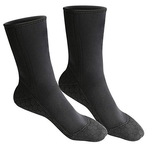 NIBESSER Ultra Stretch Tauchsocken Neoprensocken 3mm-Dicke Wassersport Tauchen Schwimmen Socken für Schwimmen, Schnorcheln, Segeln, Surfen