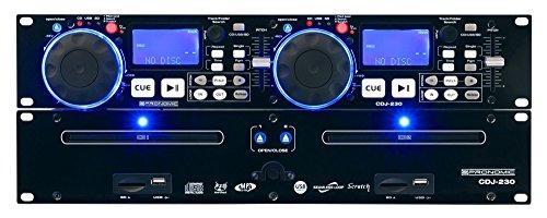 Pronomic CDJ-230 Doppel DJ CD Player mit USB & SD (2-Kanal DJ Desk mit separatem Controller, Pitch Bender und DSP-Effekte, Seamless Loop, 19'-Format)