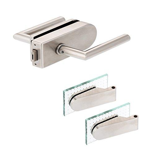 Glastürbeschlag 'D' Set UV | V2A Edelstahl matt | inkl. Studiobändern | metallische Innenmechanik | New Orleans